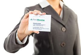Paris Housing business card